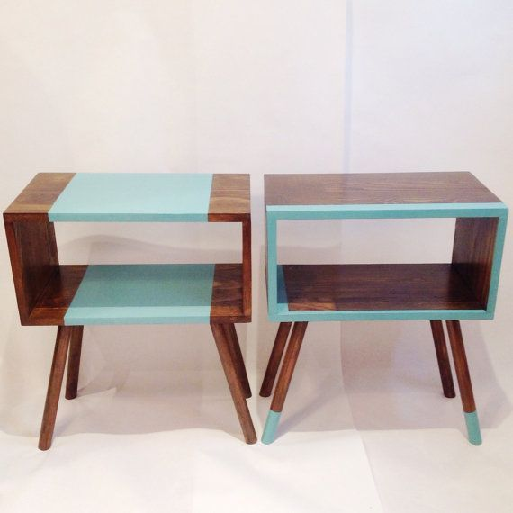 Mid Century Tables Midcentury Modern Bedside by VintageHouseCoruna