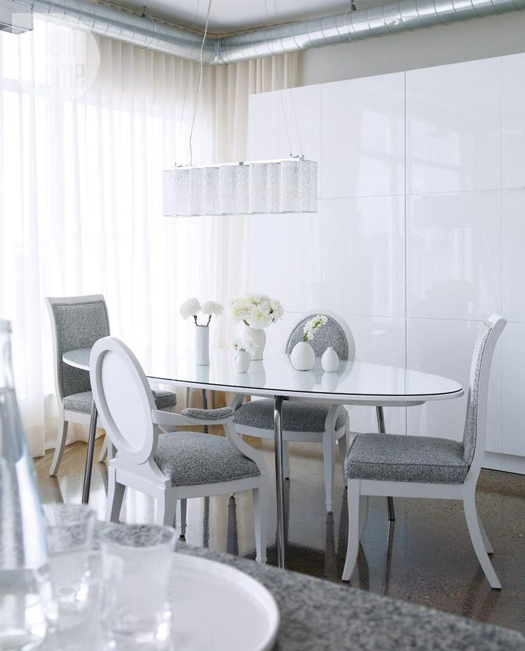 Condo Dining Room Design Elegantly Industrial Featuring A Nine Foot Long