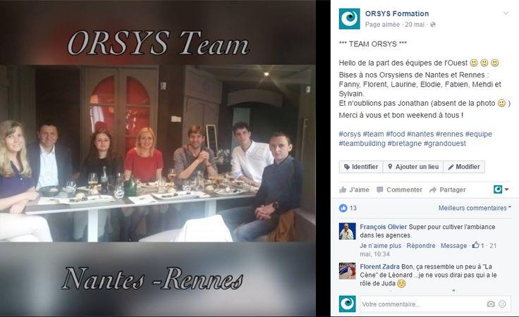 Animations d'équipes Orsys – Cohésion d'équipe Repas d'équipe Région Grand Ouest #embauche #recrutement #management #perspectives Découvrez nos offres d'emploi : http://www.orsys.fr/?mode=recrutement
