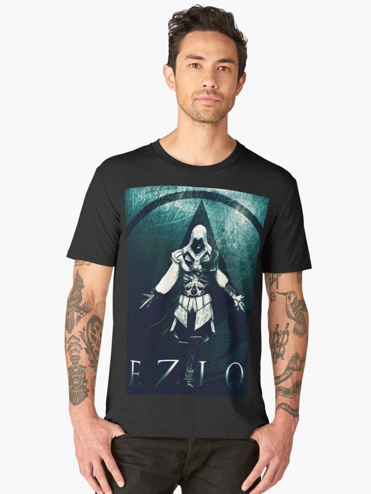 Ezio Auditore Premium T-Shirt. #tshirt #style #fashion #assassinscreedtshirt #ezioauditore #tees #shirts #premium #giftideas #eziotshirt #gamingtshirt #gamertshirt #family #kids #online #shopping #zeldatshirt #gaming #gamer #gifts  #giftsforhim #giftsforher #39 #premiumtshirt #cool #geekgifts #awesome #tshirtfashion #tshirtdesign #clothing #streetstyle #geektshirt #tee #redbubble • Also buy this artwork on apparel, stickers, phone cases, and more.