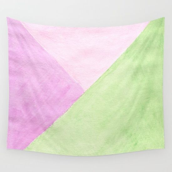 Pink and green Wall Tapestry