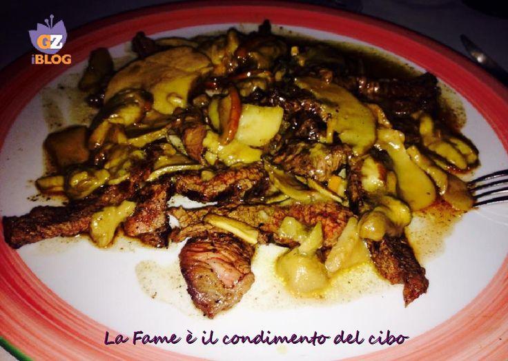 Vi propongo un secondo piatto raffinato, la Tagliata di manzo con Funghi Porcini #Carne #Ricette #BLogGZ