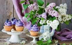 virágcsokor és dekoráció tavaszi virág édesség orgona