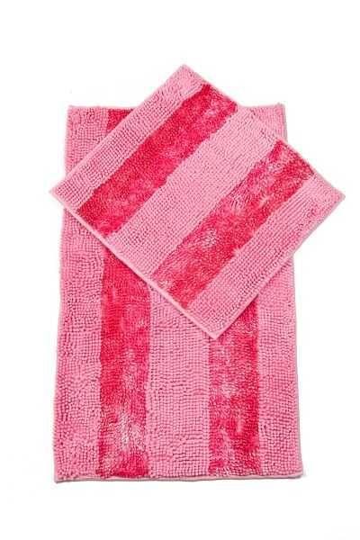 Alessia | Makarna Klozet Takımı Pembe 2 Adet Banyo Paspası, Banyo Paspası: 60 x 100 cm Banyo Paspası: 50 x 60 cm #home #house #evtekstili #tekstil #banyo #havlu #bornoz #paspas #dusperdesi #perde #bathroom #spa #bath #hamam #ottoman #bathingmat #turkishhamam #pestemal #towel #bathrobe #Satacak