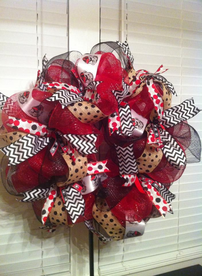 UGA, Georgia Bulldog, Bulldawg, University of Georgia, Wreath -mjb-2013
