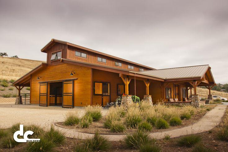 Custom Designed Post Beam Horse Barn