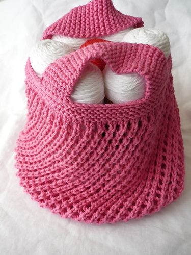 knitted market bag pattern   ... the idea of summer knitting producing gifts, let's look at bags