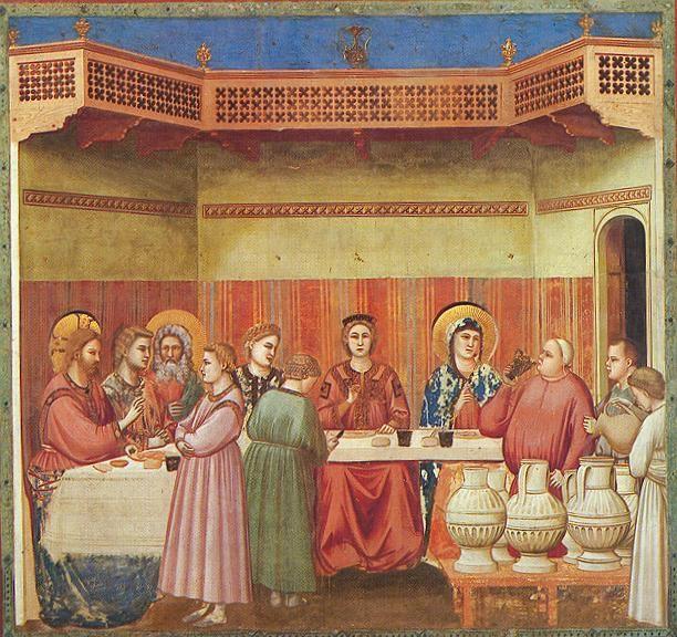 GIOTTO, Nozze di Cana  Cappella degli Scrovegni, Padova 1303-1305 affresco