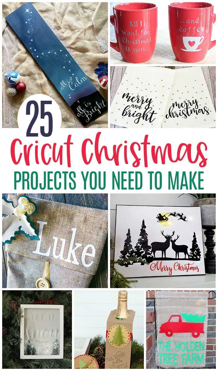 Cricut Christmas Projects You Need To Make This Year 25 Ideas For DIY Home Decor Personalized Gifts