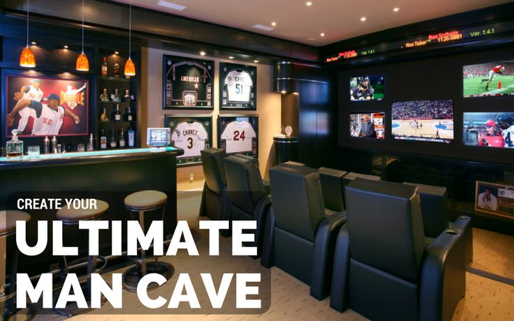 The #ManCave is the room in your home where you have complete #design control. Click the link in our bio for some tips and must have items to create your ULTIMATE Man Cave!   #interiordesign #mancaves #entertainment #men #tv #art #bar #recliner #friends #football