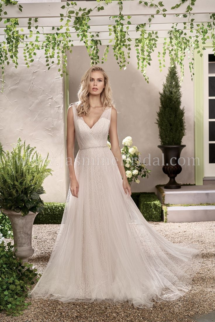 Jasmine Bridal Collection Style F191002 in Ivory/Rose Quartz