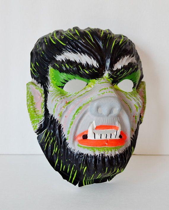 Vintage Halloween Werewolf Mask Molded by RelicsAndRhinestones