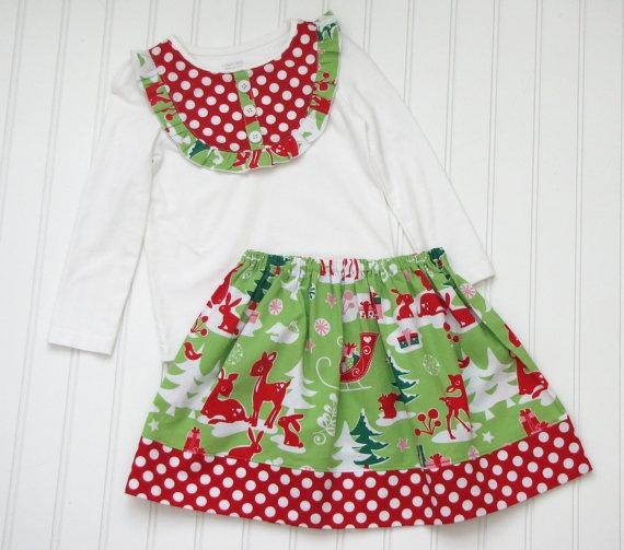 Easy skirt and bib shirt