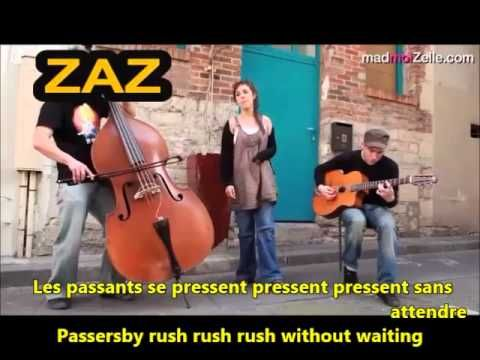 Zaz La Pluie Learn French with Songs French & English Lyrics Translation...
