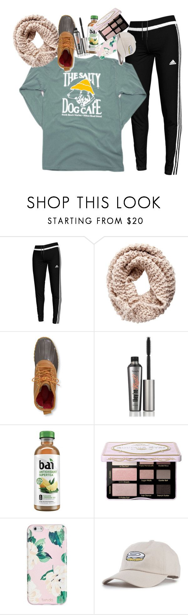 """tú eres mi universo"" by fandombreather ❤ liked on Polyvore featuring adidas, Pieces, L.L.Bean, Benefit, ban.do and KLP"