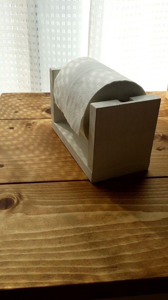 卓上トイレットペーパーホルダー トイレットペーパーホルダー 木製クラフト ホルダー