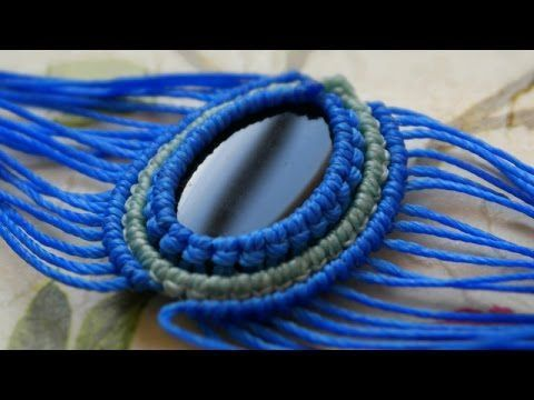 A Different Style of Adding a New Color Around Your Cabochon - Macrame Tutorial [DIY] - YouTube