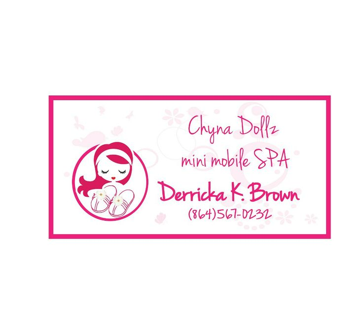 girl spa business card