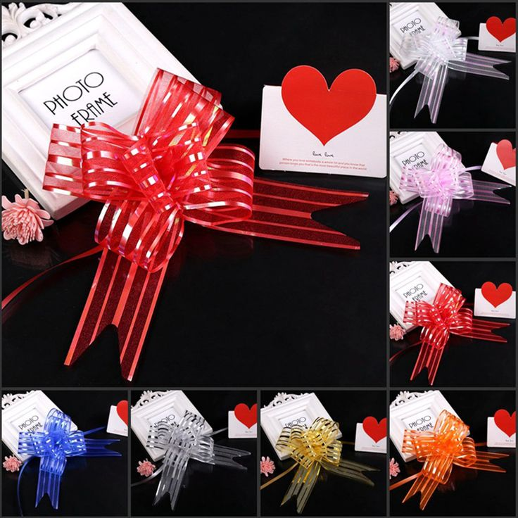 10pcs Pull Bow Ribbons Decoration Gift Wrapping Wedding Party Wedding Car DIY Wedding Supply Bow Hand Flower party Supplies  #Affiliate