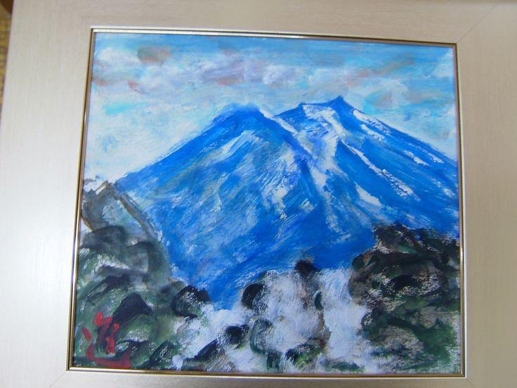 Mt Fuji painted by Painter Teranishi Shinzaburou