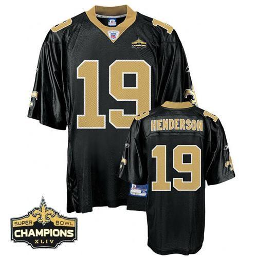 3739315fb 2017-10 Reebok New Orleans Saints Devery Henderson 19 Black Replica Jerseys  Sale Autographed New Orleans Saints Drew Brees ...