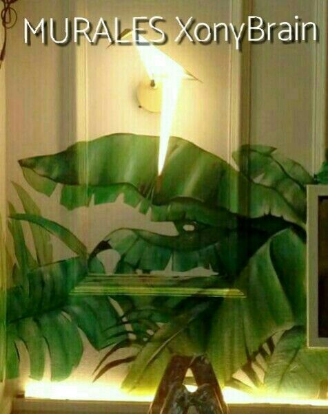 Murales pintados a Mano XonyBrain, Contacto: sonibrain78@hotmail.com #murales#trampantojos###decoración#bares #pinturadecorativa #plantas#Meraki