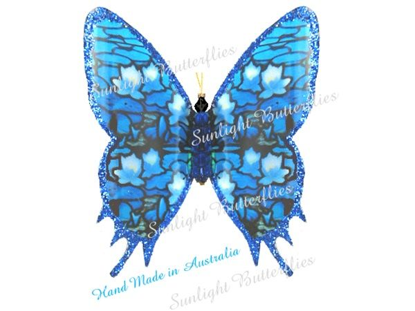 My most favourite Blue Butterfly Hand Made by Sunlight Butterflies in Queensland Australia