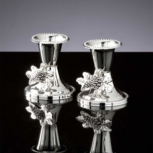 Silver Grapes Chandelier Set Of 2