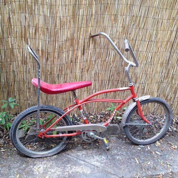 Vintage Red Old Skool Bike Scrambler Dragster Chopper Low Rider Boys Bicycle