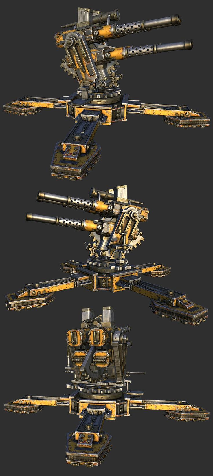 Flakk Cannon - WIP PredatorGSR - Polycount Forum