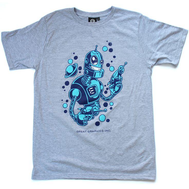 ROBOT IN HEATHER GREY http://shop.greatgraphicsinc.com/product/robot-heather-grey