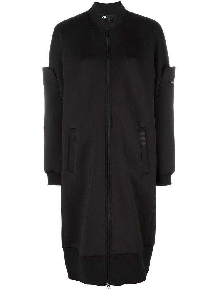 Y-3 удлиненная куртка-бомбер