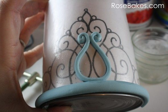 How to Make Gum Paste Tiara from rose bakes.com. Awesome tips and tricks with links to other tidbits with her cake construction
