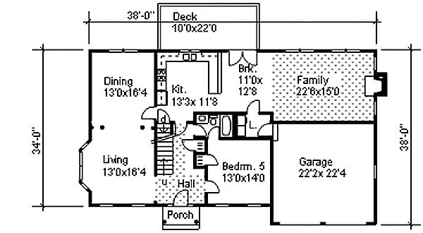 Plan 9551dm two story colonial with open floor plan for Colonial open floor plans