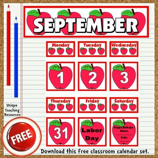 Classroom Calendar Printable : Best images about printables on pinterest free