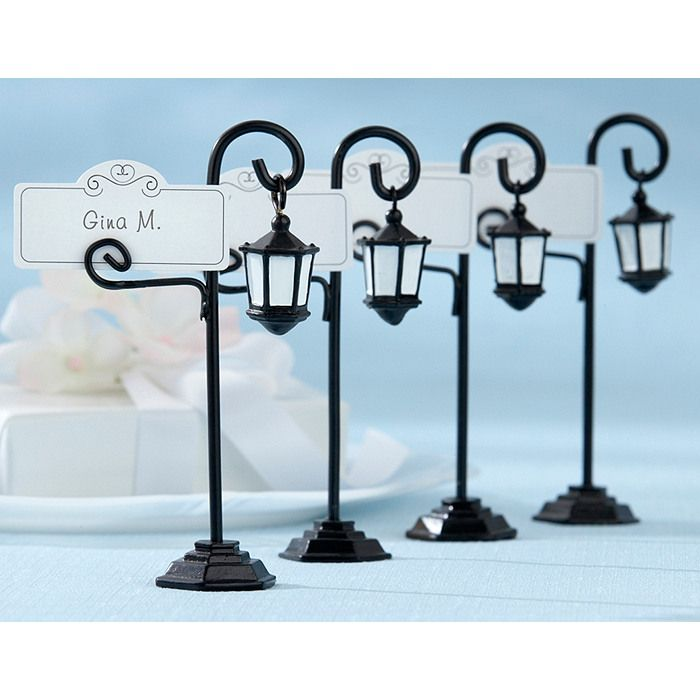 Street Lamp Place Card Holders - in case you wanted to have a Sherlock Holmes theme :)