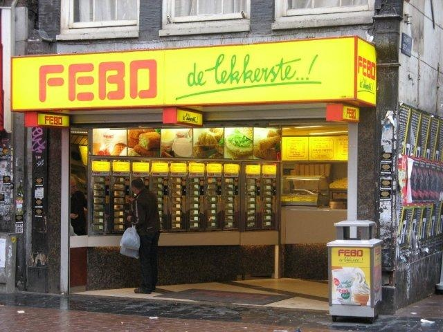 Amsterdam fast food heaven: Febo by Christian Dalera, via Flickr