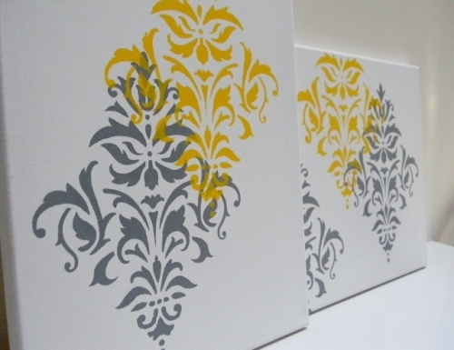 Stencils on canvas
