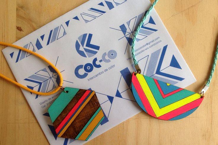 Collares Cocco Color #trendy #cute #fashion #necklace #accesorios #moda #accessories #color #madera #wood. #cocco #color #coccocolor