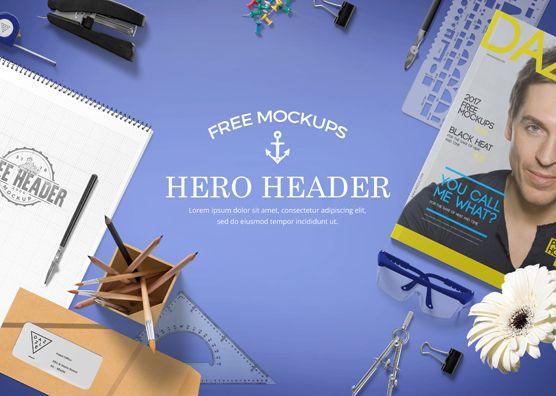 Free Professional Website Hero Images Mockup Scene #website #freebies #mockups