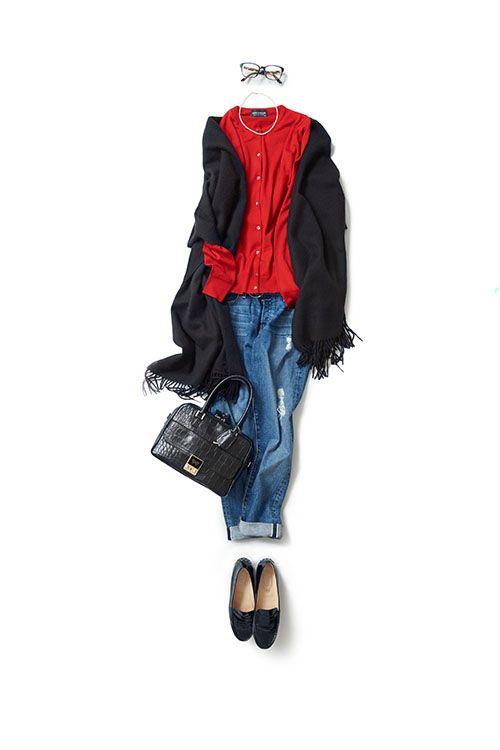 赤色が映える正統派トラッドスタイル | kk-closet