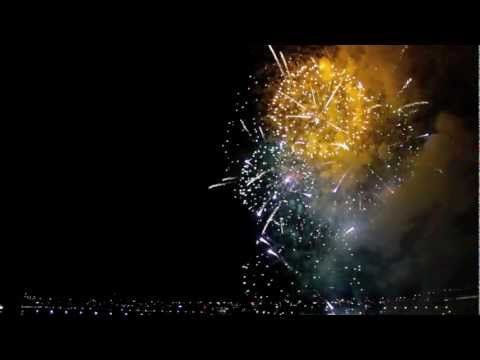 New Years Eve Fireworks In Reverse