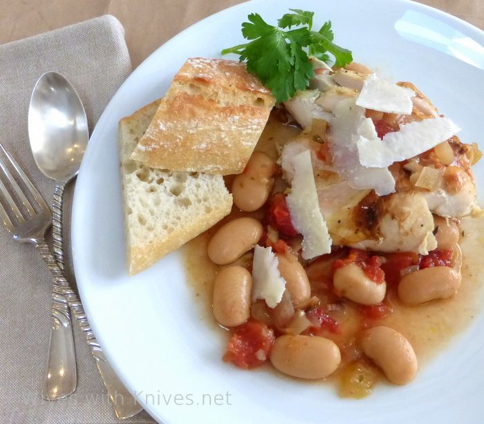 Bistro Style Gigante Beans with Tomatoes and Bacon