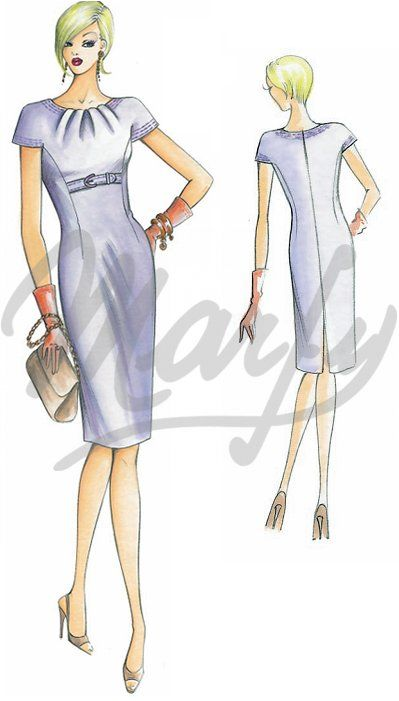 Our Patterns :: Marfy Collection 2010/2011 :: Autumn - Winter :: Sewing pattern 1824 -