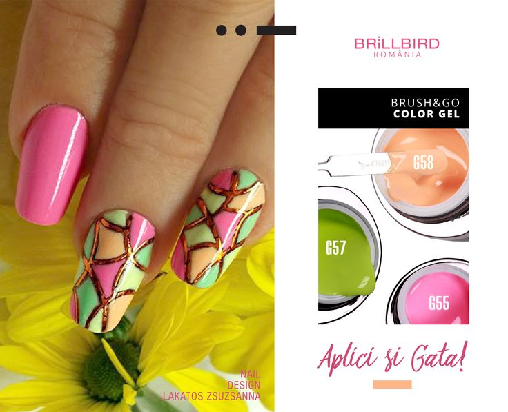 Geluri colorate Brush&Go de vară.  www.brillbird.ro