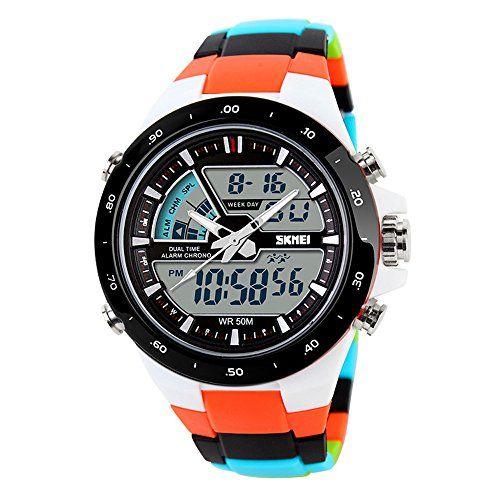 TTLIFE Relojes de pulsera unisex con esfera grande, relojes deportivos de Silicona con correa Impermeable, Reloj digital de colores Mas info: http://www.comprargangas.com/producto/ttlife-relojes-de-pulsera-unisex-con-esfera-grande-relojes-deportivos-de-silicona-con-correa-impermeable-reloj-digital-de-colores/