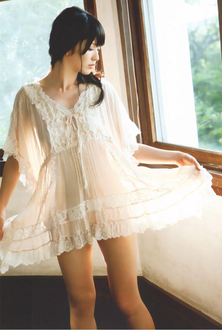 Airi Suzuki in white dress