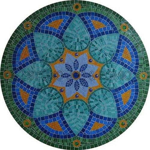 Mandala Floral #artchallenge #estudiojoeromio #mosaic  #mosaicart | por Estúdio Joe & Romio