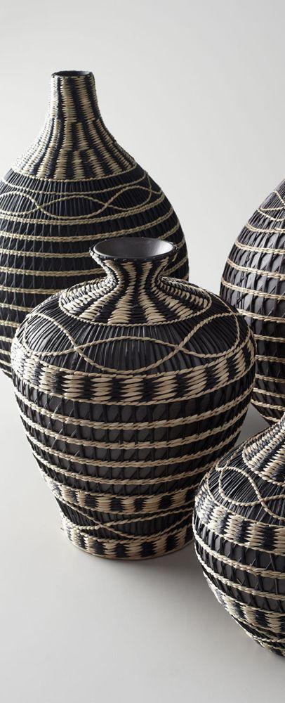 Seagrass Vases: