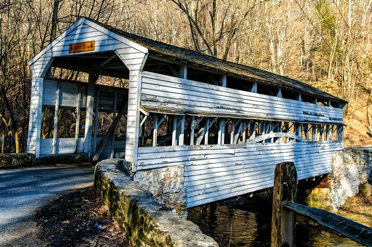 Covered bridges | Old covered bridge in Valley Forge National Park, PA
